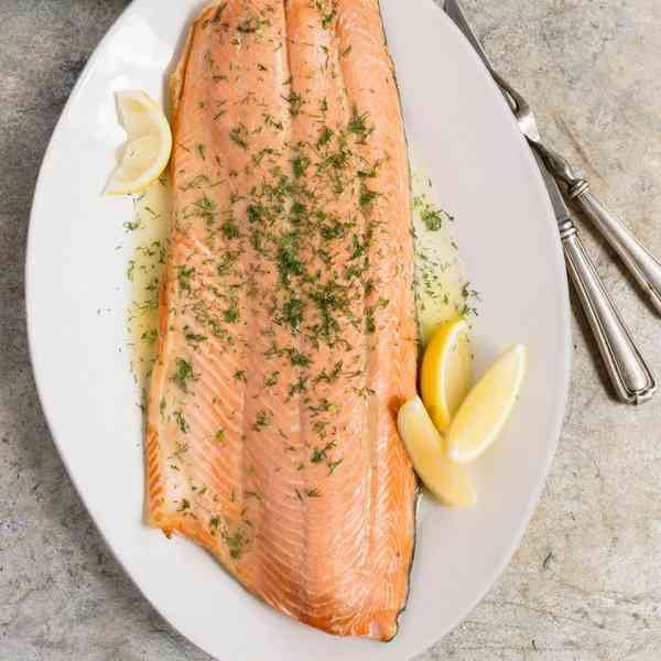 Top Table Poached Salmon