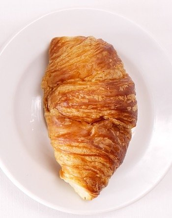 Croissant With Butter And Jam